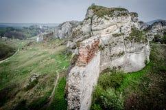 Middeleeuws kasteel in Olsztyn, Polen stock fotografie