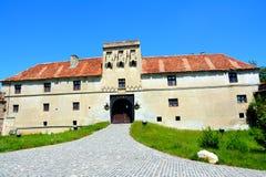 Middeleeuws kasteel op Cetatuia-Heuvel, in de stad Brasov Stock Afbeeldingen