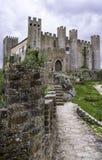 Middeleeuws kasteel, Portugal stock fotografie