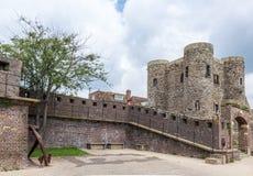 Middeleeuws kasteel in Rogge, het UK Royalty-vrije Stock Foto's