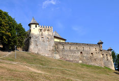 Middeleeuws kasteel in Stara Lubovna, Slowakije stock foto's