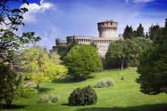 Middeleeuws kasteel in Toscanië royalty-vrije stock foto's