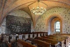 Middeleeuws kasteel in Trakai, de eerste hoofdstad van Litouwen royalty-vrije stock afbeeldingen