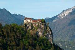 Middeleeuws kasteel van Afgetapt Stock Foto's