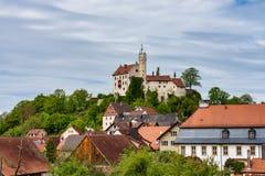 Middeleeuws Kasteel van Goessweinstein in Beieren in Duitsland stock foto