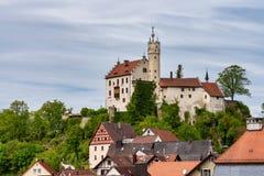 Middeleeuws Kasteel van Goessweinstein in Beieren in Duitsland royalty-vrije stock fotografie