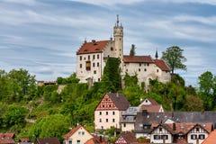 Middeleeuws Kasteel van Goessweinstein in Beieren in Duitsland stock fotografie