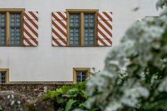 Middeleeuws kasteel van Hoechst, Frankfurt, Duitsland stock fotografie