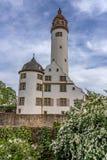 Middeleeuws kasteel van Hoechst, Frankfurt, Duitsland royalty-vrije stock foto