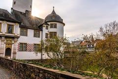 Middeleeuws kasteel van Hoechst, Frankfurt, Duitsland royalty-vrije stock afbeeldingen