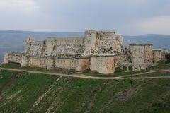 Middeleeuws kasteel van krak des chevalliers Stock Foto