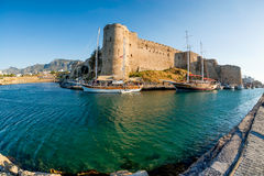 Middeleeuws kasteel van Kyrenia, Cyprus royalty-vrije stock fotografie