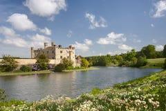 Middeleeuws kasteel van Leeds, in Kent, het UK royalty-vrije stock afbeelding