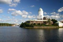 Middeleeuws Kasteel van Vyborg, Rus Stock Foto's