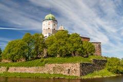 Middeleeuws kasteel in Vyborg stock fotografie