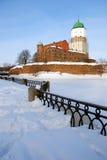 Middeleeuws kasteel in Vyborg. Stock Foto