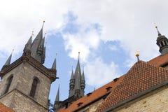 Middeleeuws kasteeldak royalty-vrije stock afbeelding