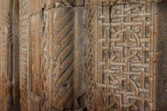 Middeleeuws kerkdetail in Vagharshapat Royalty-vrije Stock Foto's