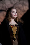Middeleeuws kledingsmeisje Royalty-vrije Stock Foto's