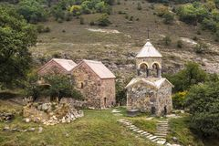 Middeleeuws klooster Srbanes, VIIIXVII eeuwen royalty-vrije stock fotografie