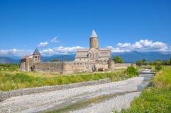 Middeleeuws klooster van Alaverdi in Kakheti, Georgië Royalty-vrije Stock Foto