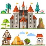 Middeleeuws koninkrijkselement stock illustratie