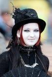 Middeleeuws meisje bij Golf Gotik Treffen royalty-vrije stock afbeeldingen