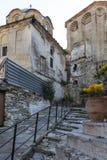 Middeleeuws Orthodox Klooster van Timiou Prodromou St John de Doopsgezinde dichtbijgelegen stad van Serres, Griekenland royalty-vrije stock afbeeldingen