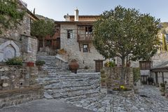 Middeleeuws Orthodox Klooster van Timiou Prodromou St John de Doopsgezinde dichtbijgelegen stad van Serres, Griekenland royalty-vrije stock foto