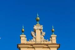 Middeleeuws Oud de Stads Hoofdvierkant van Krakau stock foto's