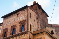 Middeleeuws paleis in Mantua-stad Royalty-vrije Stock Foto