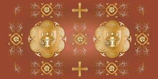Middeleeuws Patroon Royalty-vrije Stock Fotografie