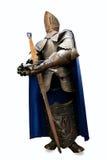 Middeleeuws ridder volledig pantser met zwaard Royalty-vrije Stock Foto's