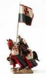 Middeleeuws ridderbeeldje Stock Foto's