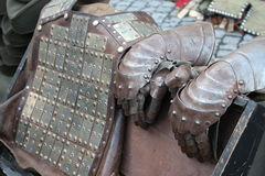 Middeleeuws ridderpantser stock afbeeldingen