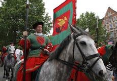 Middeleeuws spectakel in Brussel royalty-vrije stock fotografie