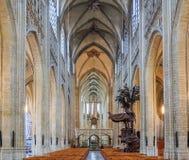 Middeleeuws stadhuis in Leuven België Stock Fotografie
