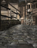 Middeleeuws stadsdorp Stock Foto's