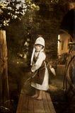 Middeleeuws stijlmeisje Royalty-vrije Stock Foto's