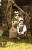 Middeleeuws stijlmeisje Stock Foto's