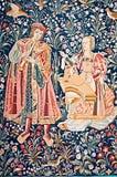 Middeleeuws tapijtwerk Stock Fotografie