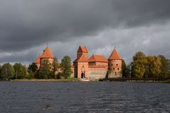 Middeleeuws Trakai-Kasteel Royalty-vrije Stock Afbeeldingen