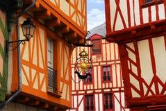 Middeleeuws Vannes, Frankrijk Stock Foto's