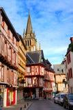 Middeleeuws Vannes, Frankrijk. stock afbeelding