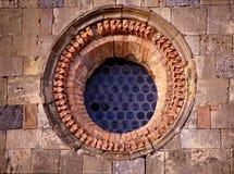 Middeleeuws venster in Toscanië, Italië Royalty-vrije Stock Foto's