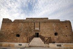 Middeleeuws vestingwerk van Pafos-Baai, Cyprus. Stock Foto's
