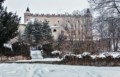 Middeleeuws Zvolen-Kasteel - Slowakije royalty-vrije stock foto's