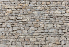 Middeleeuwse bakstenen muur Royalty-vrije Stock Afbeelding