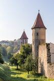 Middeleeuwse Beierse Stad Sesslach in Duitsland stock afbeelding