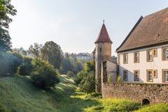 Middeleeuwse Beierse Stad Sesslach in Duitsland stock foto's